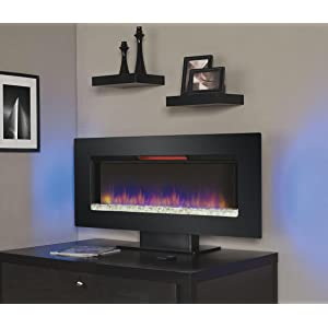 """ClassicFlame 47II100GRG Felicity 47"""" Wall Mounted Electric Infrared Quartz Fireplace"""