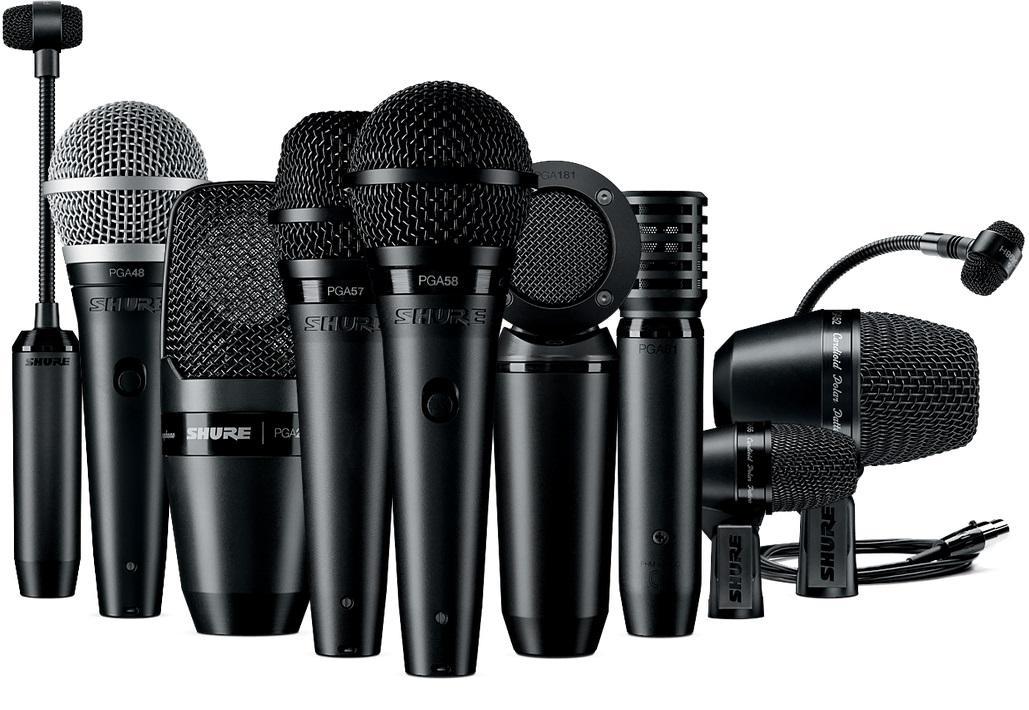 Amazon.com: Shure PGADRUMKIT7 7-Piece Drum Microphone Kit ...