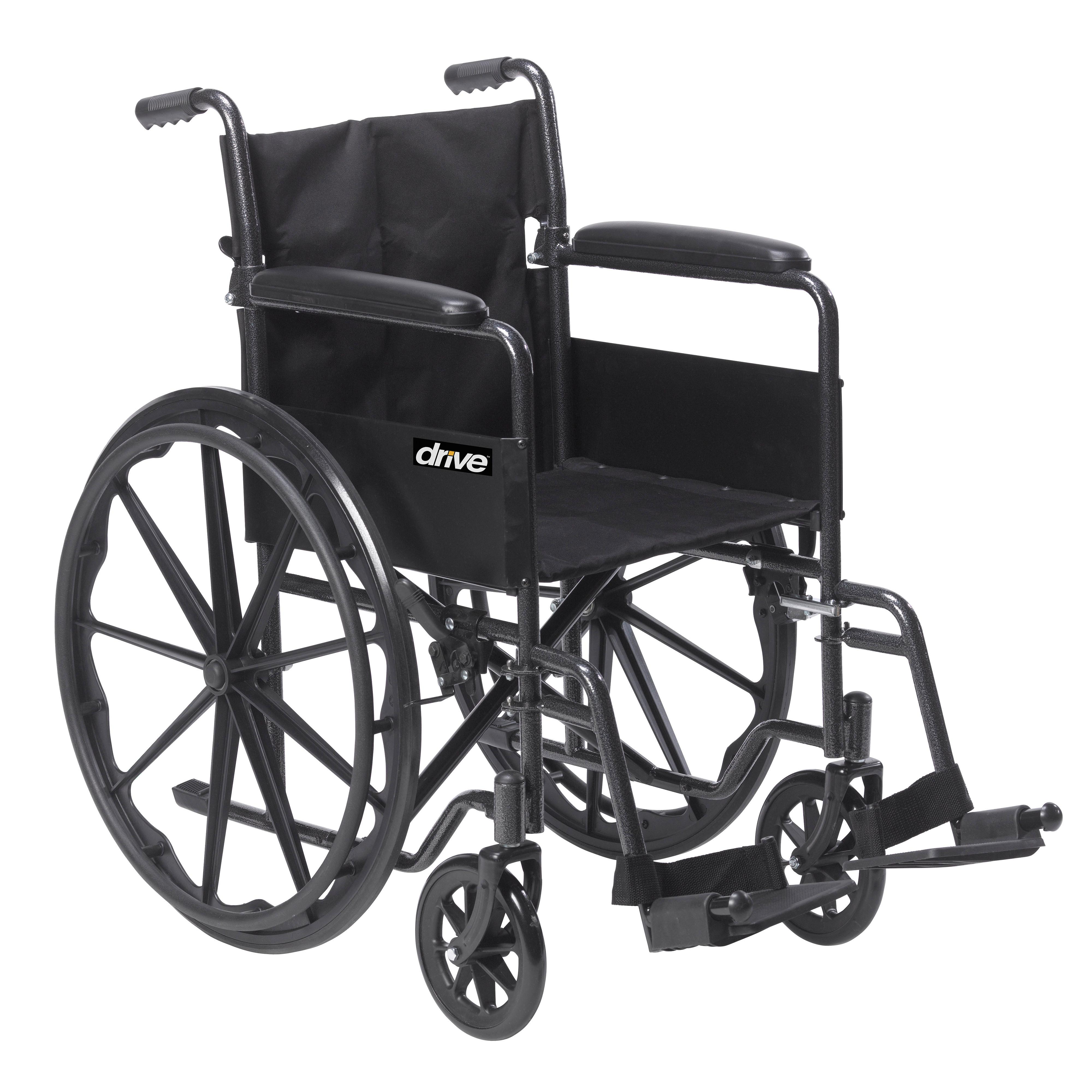 Amazon Drive Medical Silver Sport 1 Wheelchair with Full Arms