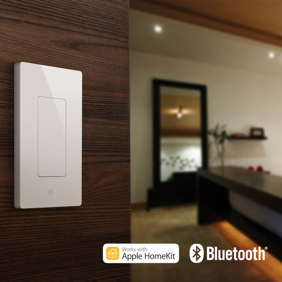 Elgato Eve Light Switch, Connected Wall Switch with Apple HomeKit