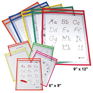 Dry Erase Pocket Sizes