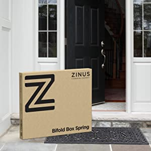 Amazon Com Zinus Jayanna 4 Inch Low Profile Bifold Box