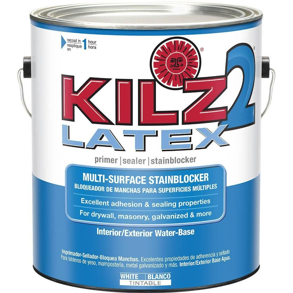 Kilz 2 multi surface stain blocking interior exterior latex primer sealer white 1 for Can you use exterior primer inside
