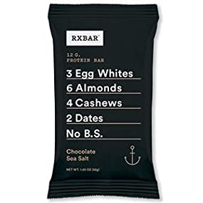 Amazon.com: RXBAR Whole Food Protein Bar, Chocolate Sea Salt, 1.83 ...