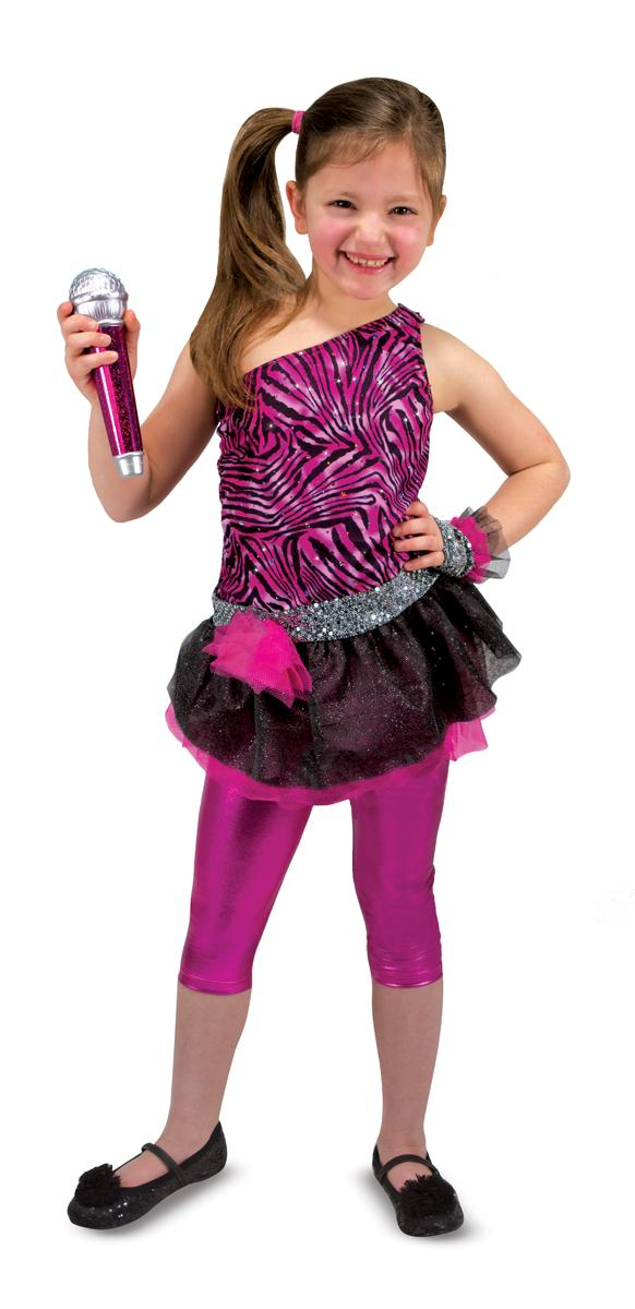 Amazon.com Melissa U0026 Doug Rock Star Role Play Costume Set (4 Pcs) - Includes Zebra-Print Dress ...