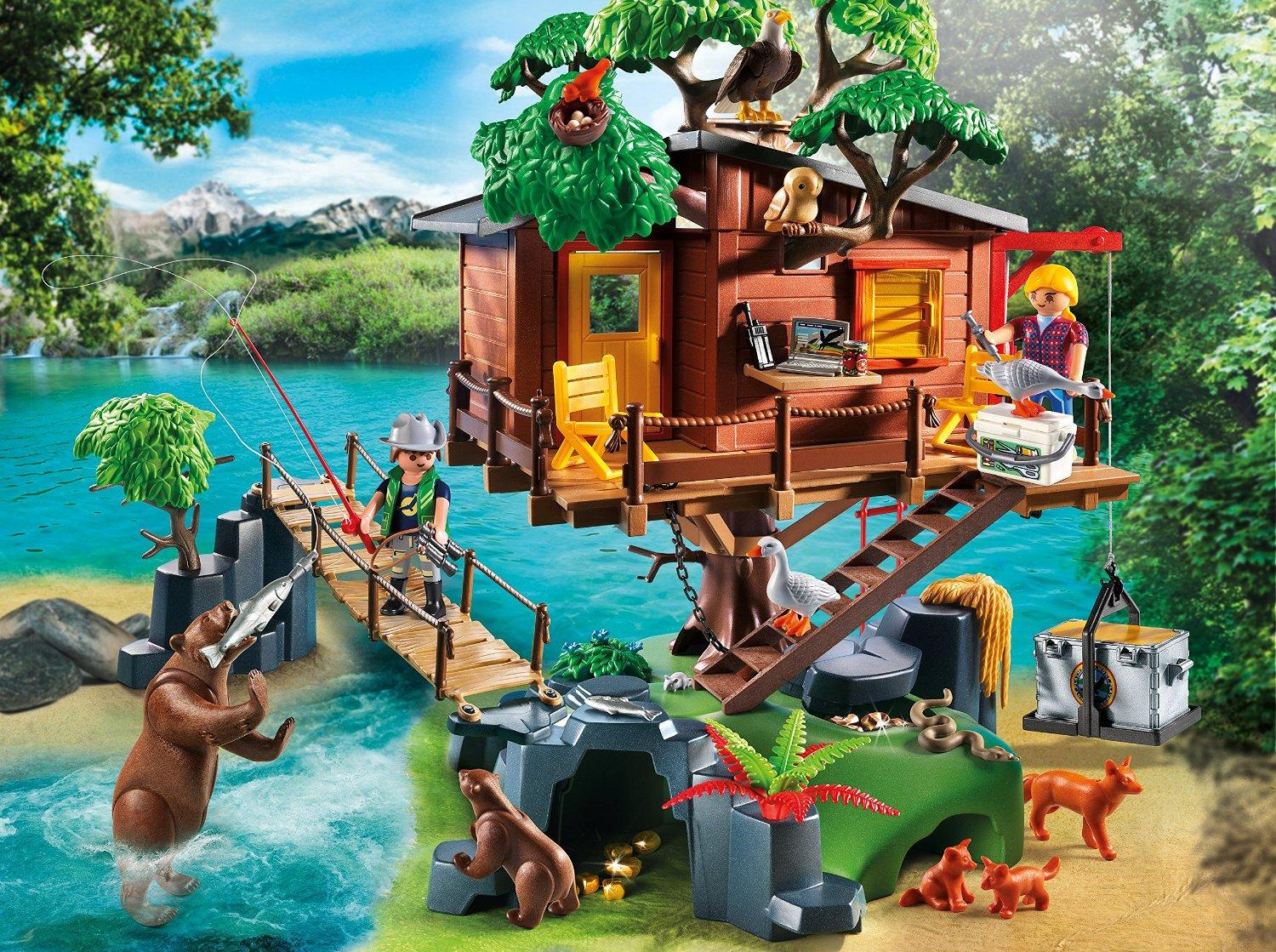 Treehouse Pictures Amazoncom Playmobil Adventure Tree House Toys Games
