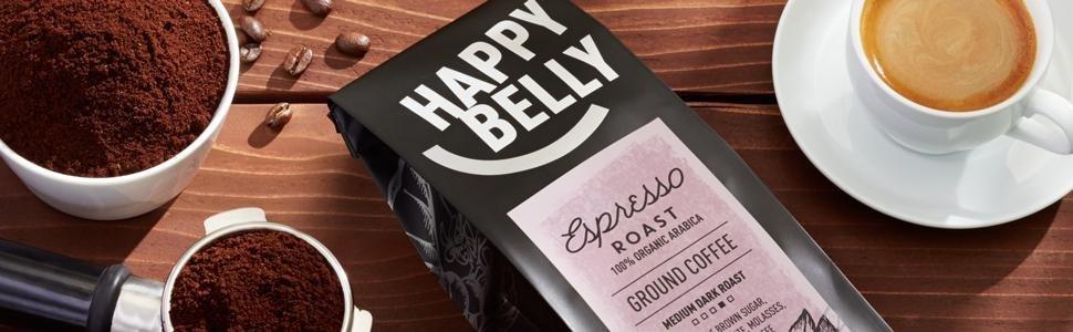 Happy Belly Espresso Roast Coffee, Ground