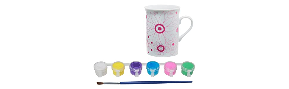 Alex toys craft paint and sip ceramic mug for Alex paint porcelain jewelry