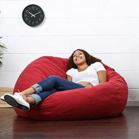 Amazon Big Joe Large Fuf Foam Filled Bean Bag Chair Comfort