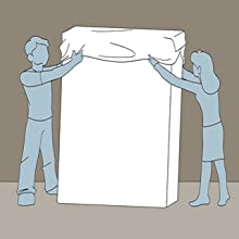 unzip the mattress encasement on all three sides and wrap the short unzippered side over the top of the standing mattress - Mattress Encasement