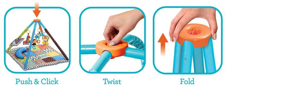 Amazon Com Infantino Twist And Fold Activity Gym