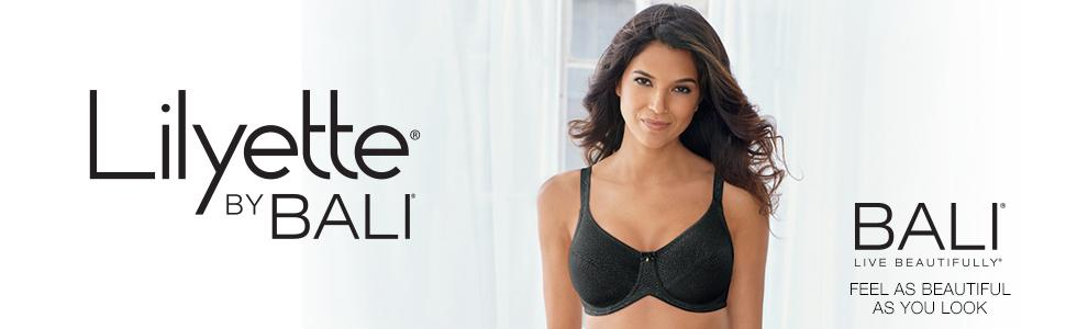 8bfe2df1a84a7 Lilyette by Bali Women s Endless Smooth Minimizer Underwire Bra at ...
