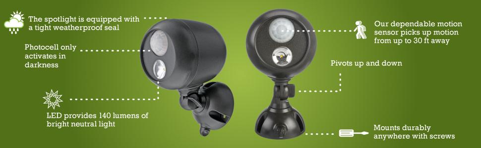 Mr Beams Mb360 Wireless Led Spotlight With Motion Sensor