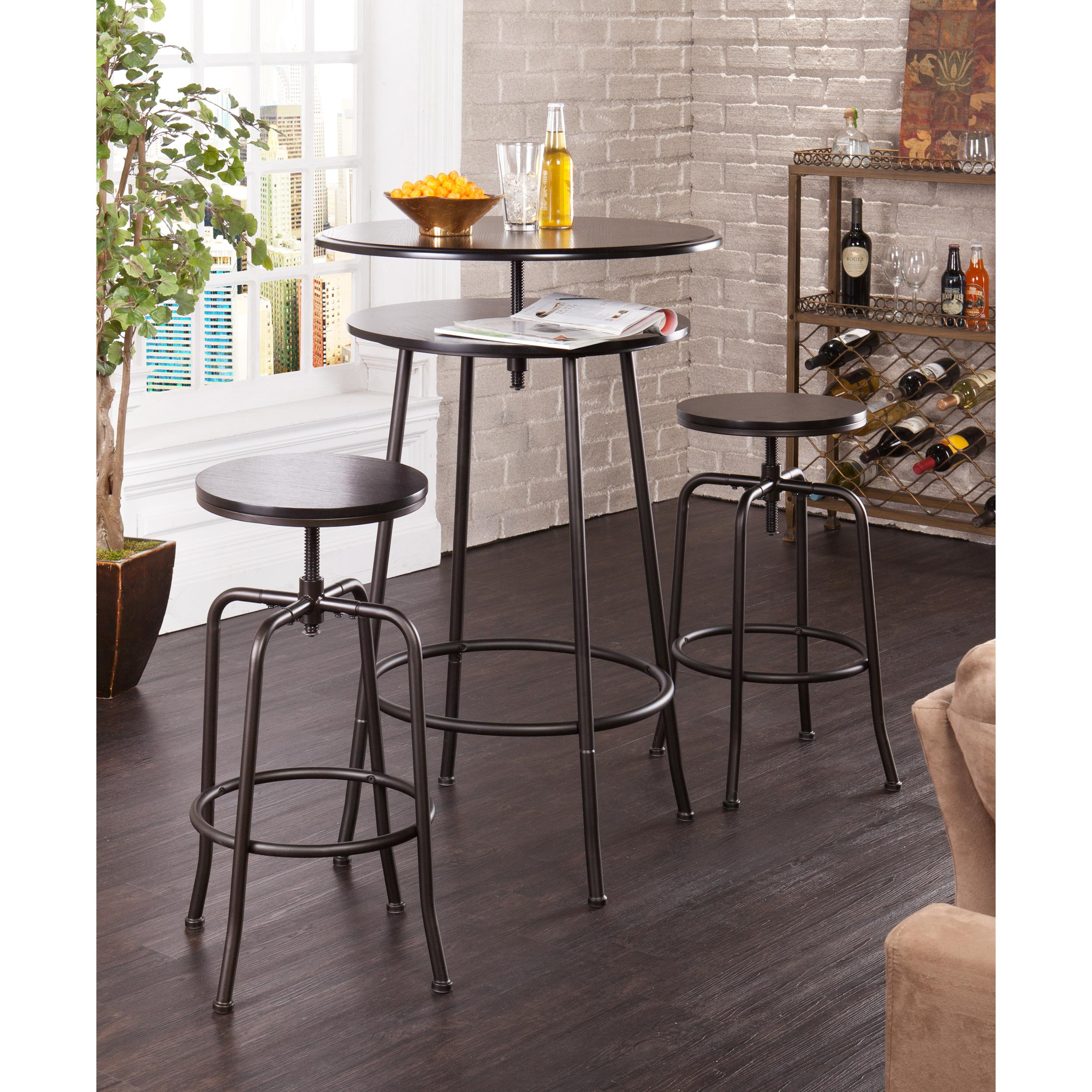 Bar Stools And Tables: Amazon.com: Holly & Martin Kalomar 3pc Adjustable Pub