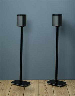 White Flexson Floor Stands for Sonos One Pair