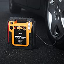 tire inflation air compressor inflating booster emergency car kit