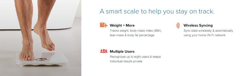 Amazon.com: Fitbit Aria Wi-Fi Smart Scale, Black: Health & Personal