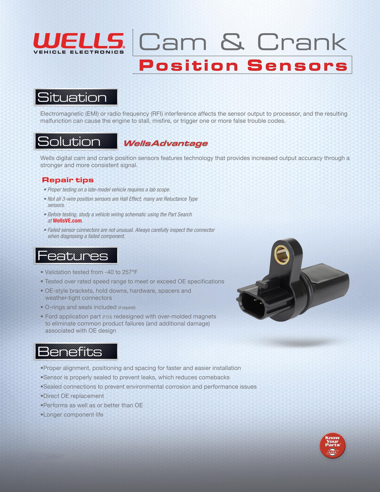 Wells SU4012 Engine Crankshaft Position Sensor