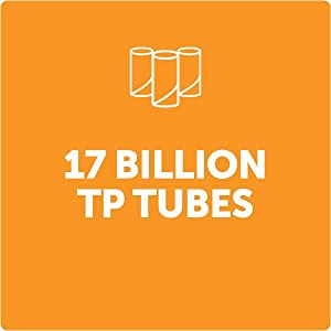 How much toilet paper is used per year? 17 billion bathroom tissue tubes are used each year.