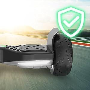 "EPIKGO Sport Balance Board Self Balance Scooter Hover Balancing Board -UL2272 Certified, All-Terrain 8.5"" Racing Wheels, 400W Dual-Motor,LG Smart ..."