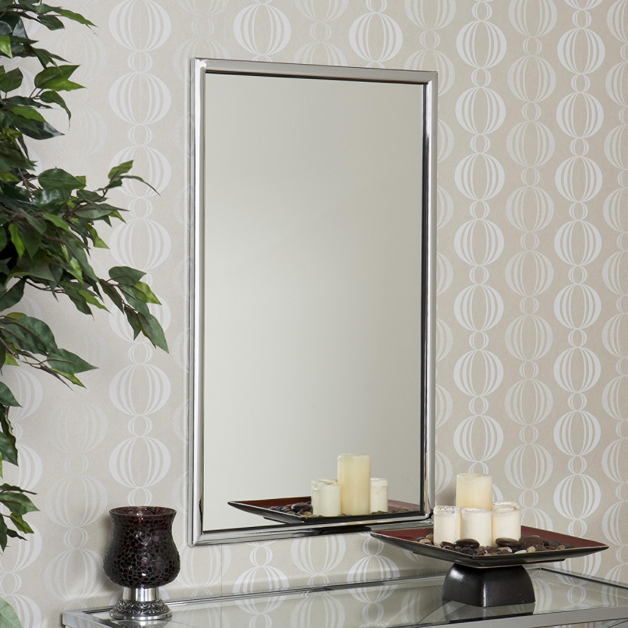 Amazon.com: Southern Enterprises SEI Vogue Chrome Wall Mirror ...