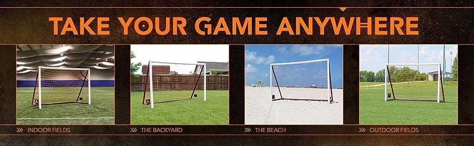 Amazon.com : Goalrilla Gamemaker Portable Soccer Goal : Soccer ...