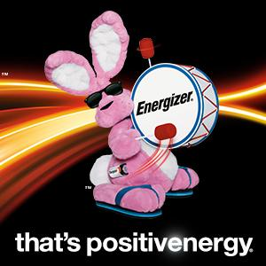 energizer bunny, that's positive energy