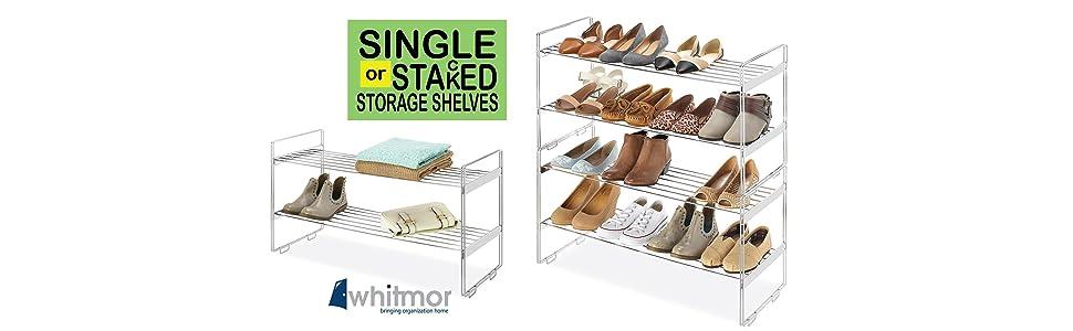 closet shelf, stackable shelves, metal shoe rack, stacking shelves, closet storage