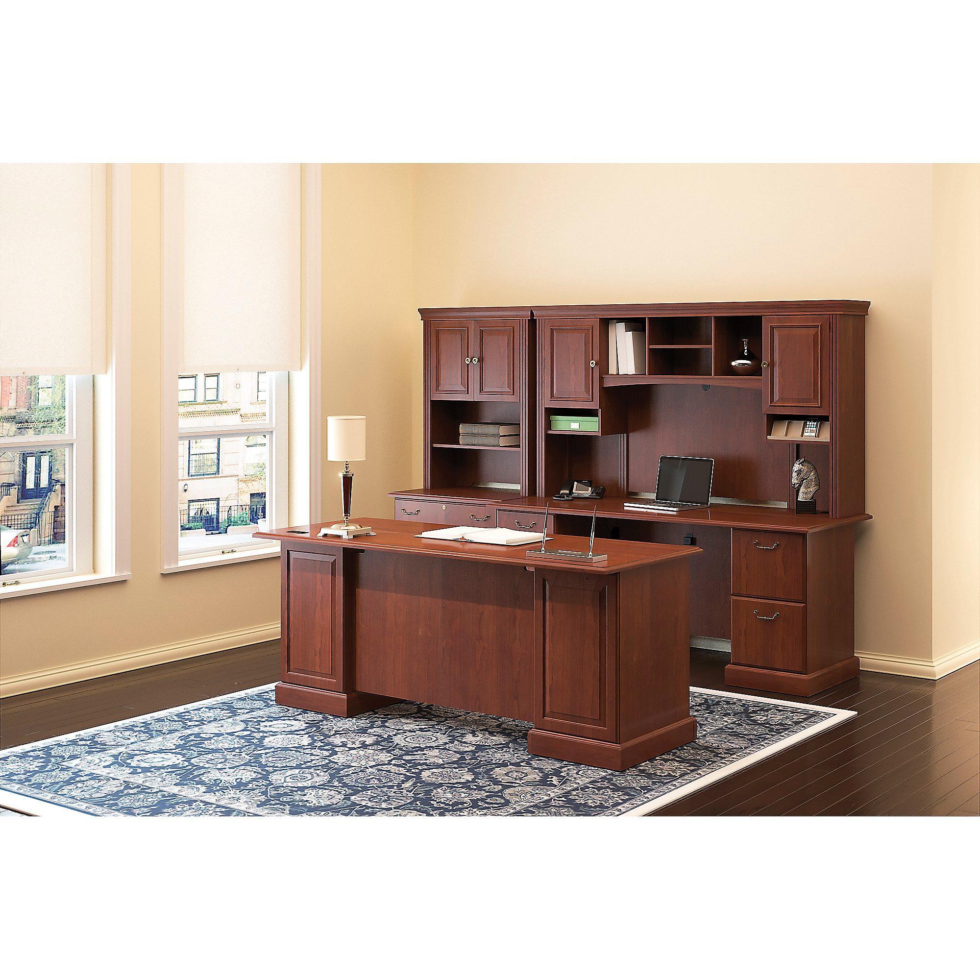 Amazon.com: Bush Business Furniture Syndicate 72W Double Pedestal ...