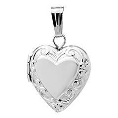 Amazon sterling silver childrens petite embossed heart locket childrens baby sterling silver heart locket pendant necklace aloadofball Images