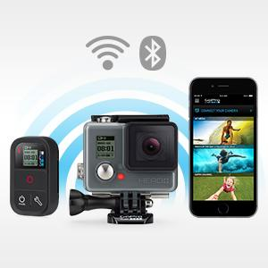 Control, view and share with built-in Wi-Fi and Bluetooth.