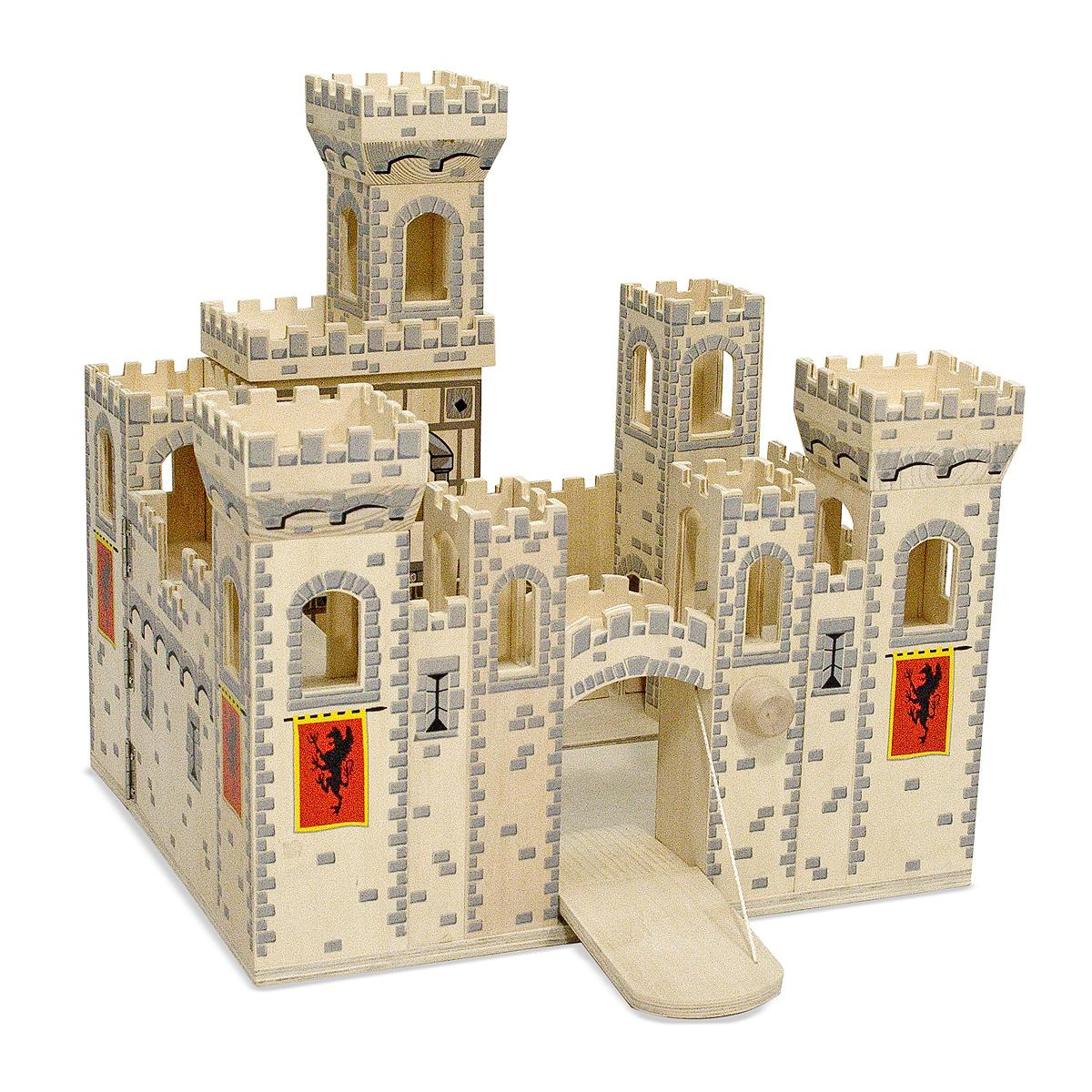 Toy Castles For Toddler Boys : Amazon melissa doug deluxe folding medieval wooden