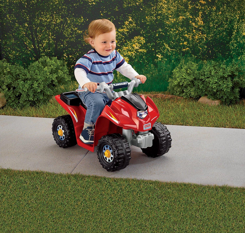 Amazon Com Power Wheels Lil Kawasaki Quad Toys Amp Games