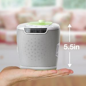 MyBaby by HoMedics: MyBaby SoundSpa Lullaby Sound Machine and Image Projector with 6 sounds and Auto-off Timer 10