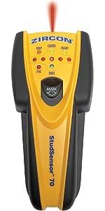 SS70, studscan, stud scan, deep scan, deepscan, studsensor, stud sensor, studfinder, Zircon