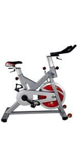 Sunny Health & Fitness SF-B1110S Pro Indoor Cycling Bike - Silver