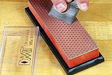 6-inch Diamond Whetstone fine sharpening a plane iron