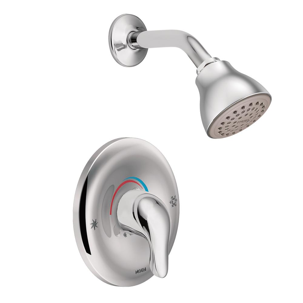 Moen Chateau Single Handle PosiTemp Valve And Shower Trim L2352  Chrome