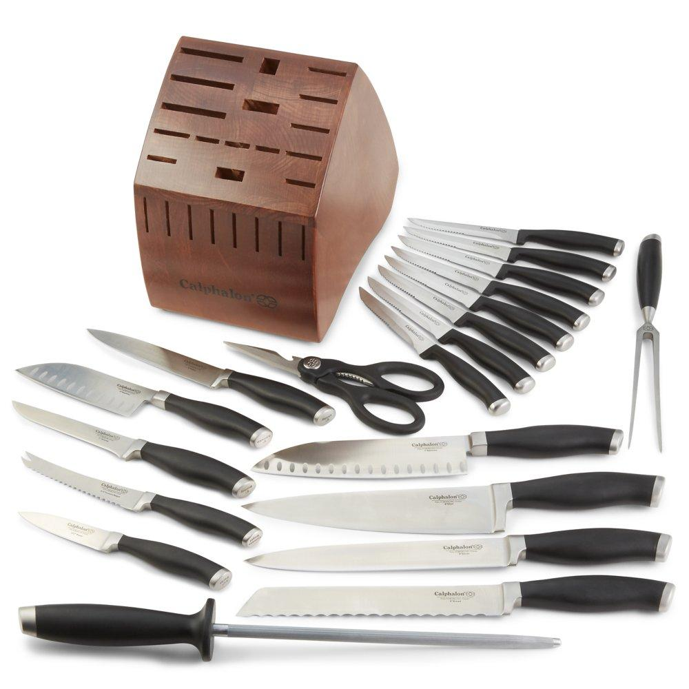 calphalon contemporary cutlery set with knife block 21 calphalon contemporary cutlery 2 piece fruit and vegetable