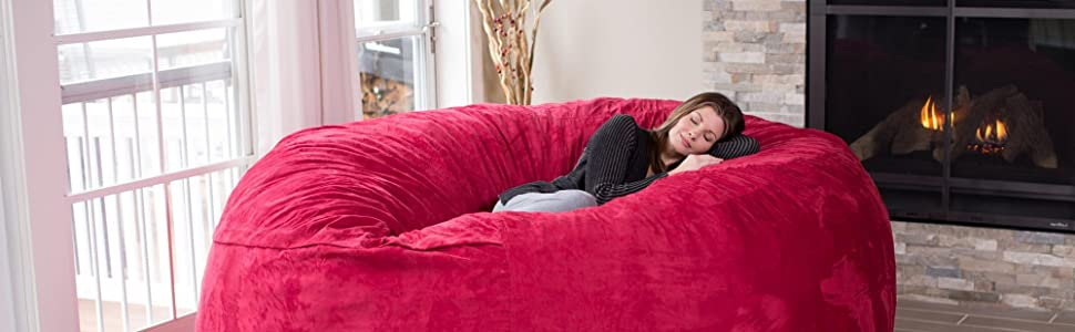 From the manufacturer. huge bean bag - Amazon.com: Chill Sack - Bean Bags 8-Feet Bean Bag, Huge, Charcoal