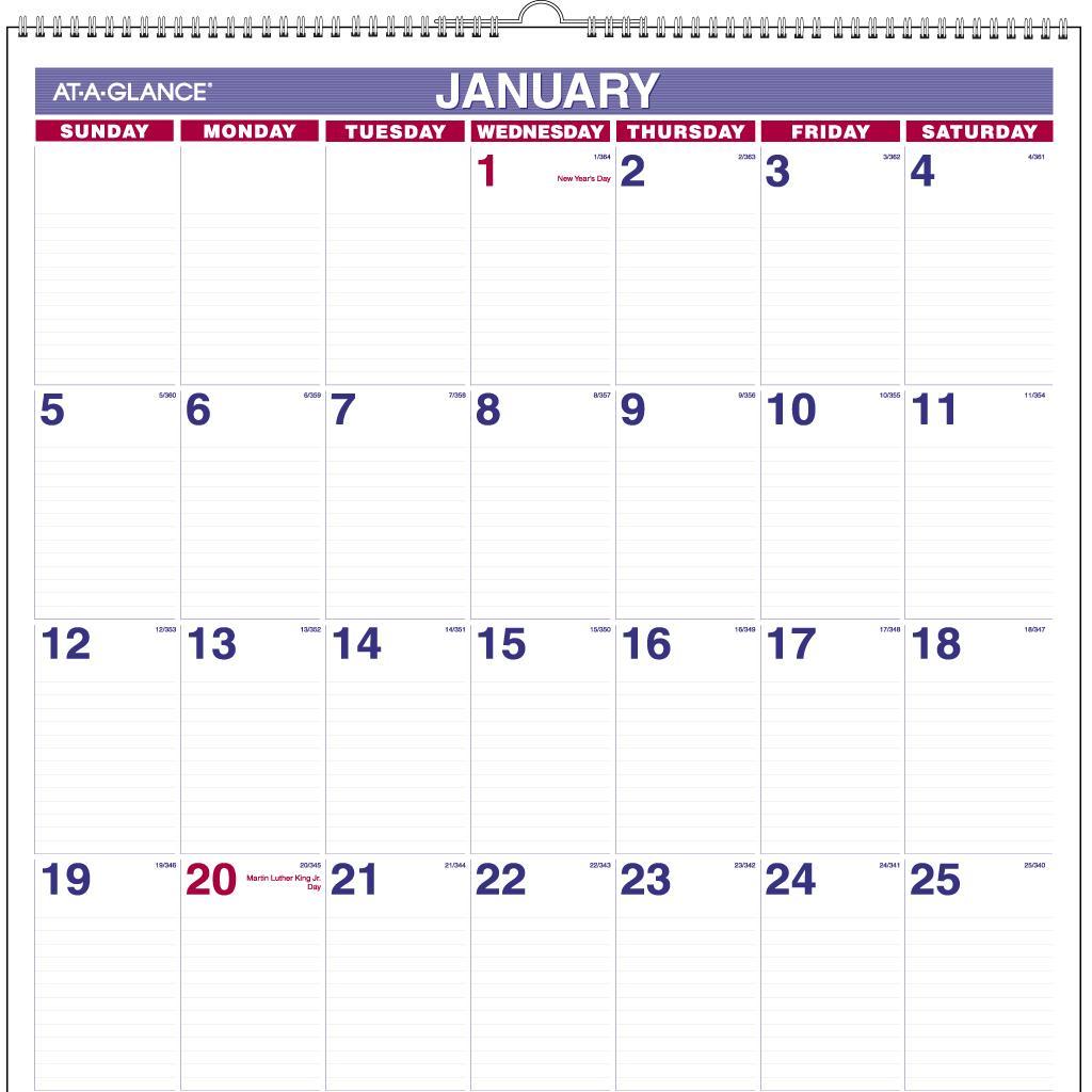 1b7b4a29ad4 Amazon.com : AT-A-GLANCE Monthly Wall Calendar 2015, Wirebound, 20 x ...