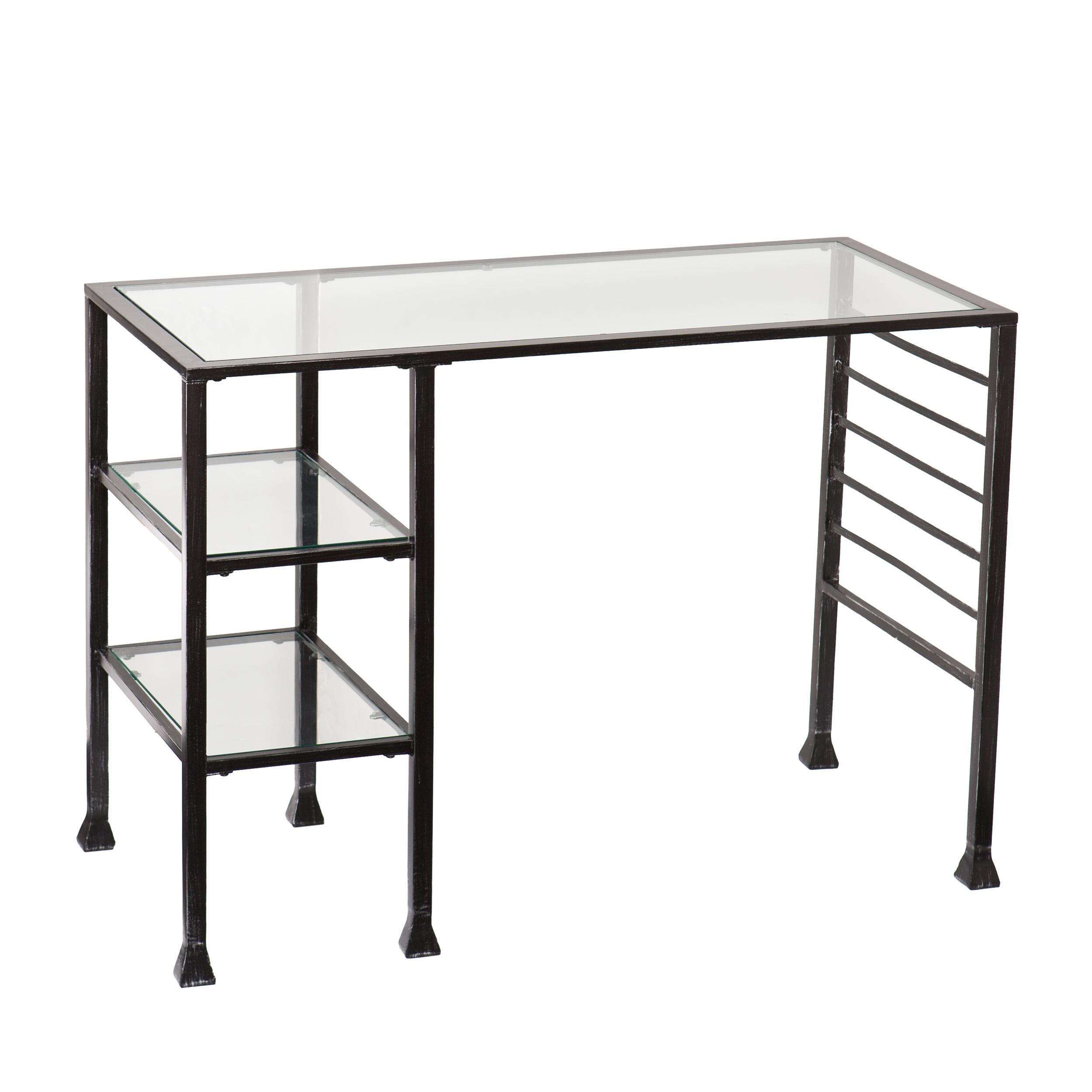 amazoncom southern enterprises glass writing desk  wide  - view larger