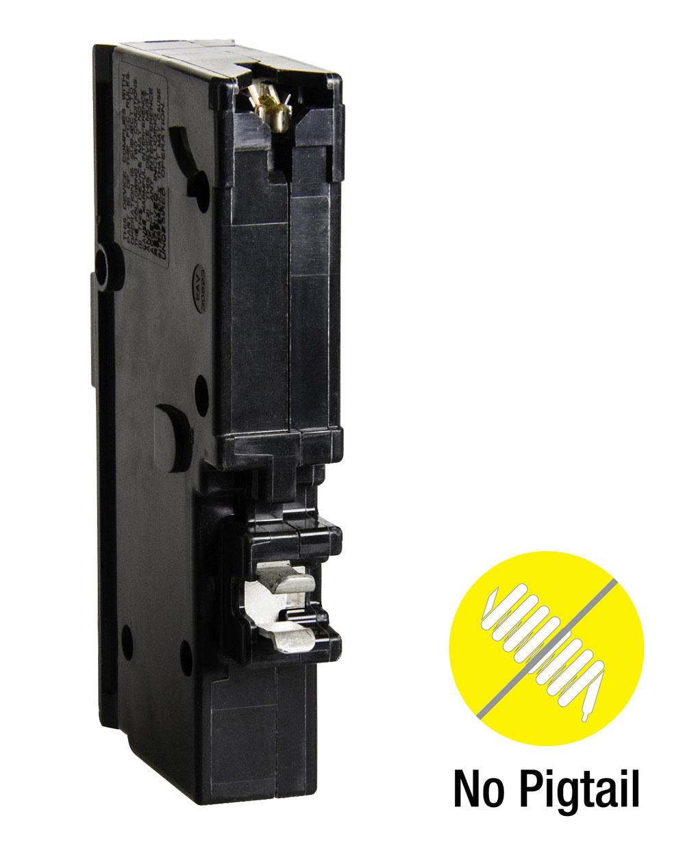 Shop Square D Homeline 15 Auto Electrical Wiring Diagram Amp Singlepole Circuit Breakerhom115cp The Home Depot By Schneider Electric Hom115pcafic Plug