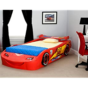 Delta Children Cars Lightning Mcqueen Twin Bed With Lights Disney Pixar Cars Baby