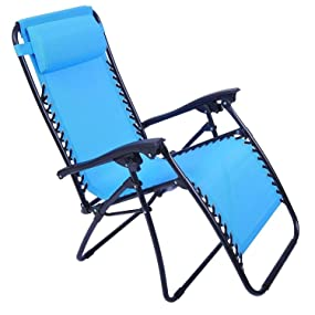 Outsunny zero gravity recliner lounge patio for Anti gravity chaise