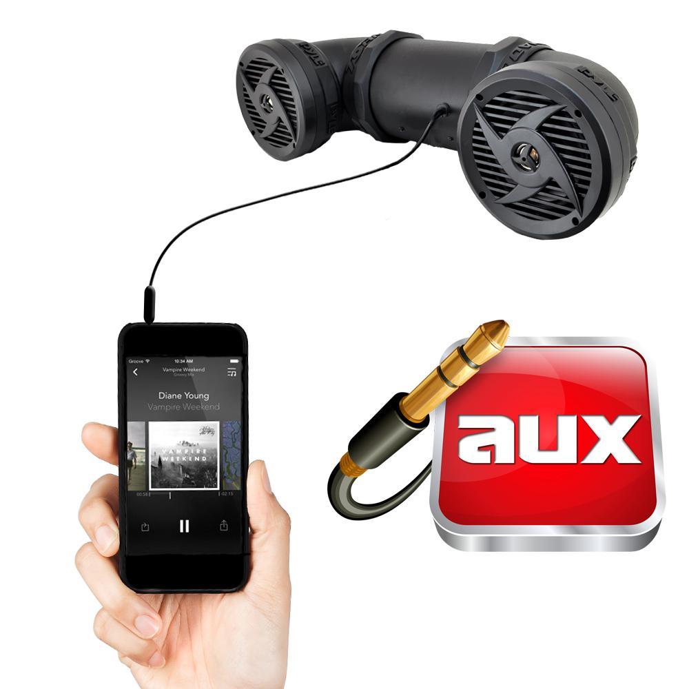 Amazon Com Pyle Tornado Bluetooth Waterproof Atv Speaker
