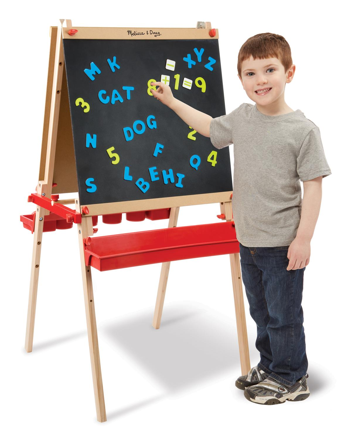 Amazon Com Melissa Amp Doug Deluxe Easel With Magnetic