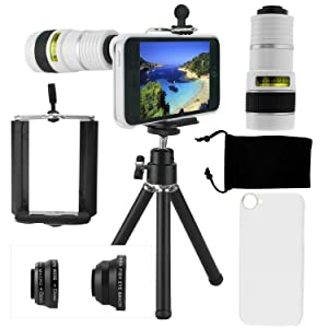 iphone apple 5c 5 camera lens lenses kit tripod fisheye macro wide angle