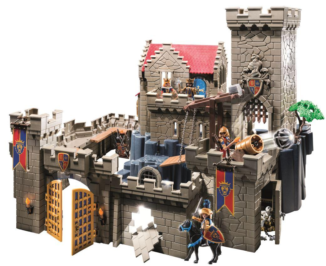 Amazon.com: PLAYMOBIL Royal Lion Knight's Castle Set: Toys ...