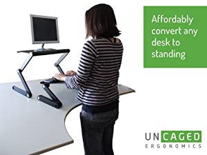 affordable ergonomic adjustable standing desk conversion - Standing Computer Desk